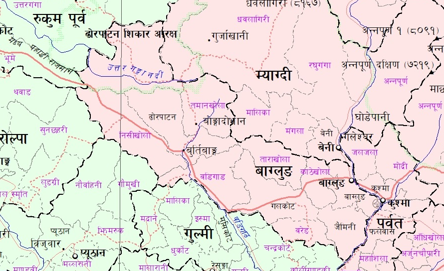 map of galkot baglung